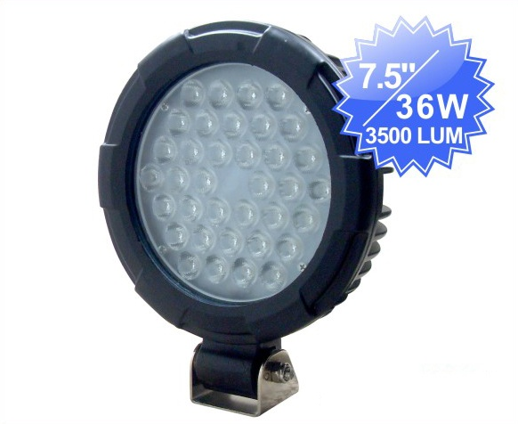 Fjernlys 7,5'' LED, 3500 lumen, 36W, IP68